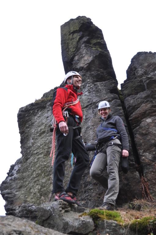 Nadine und Jens an der Abseile