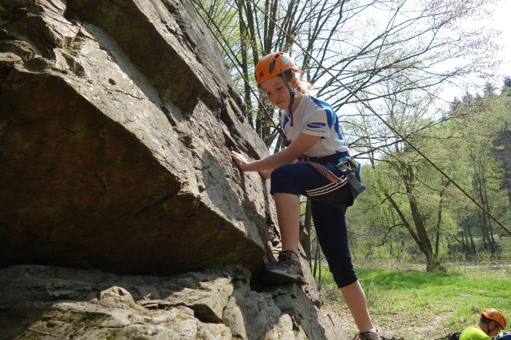 Klettern im Toprope an der Schafswand