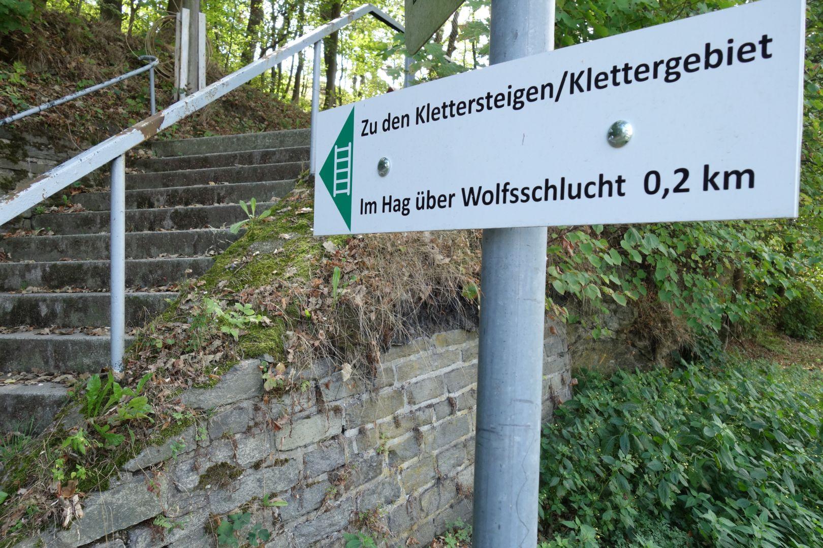 Zugangs zu den Klettersteigen