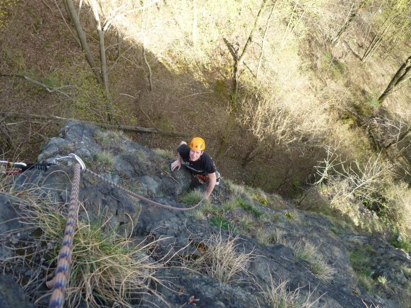 Sonntagsklettern im Steinicht am Uhustein