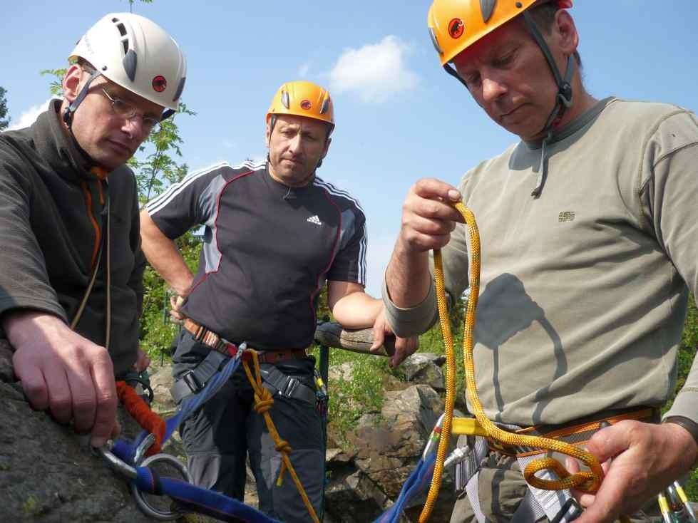 Kletterkurs im Vogtland, in Grünbach, am Wendelstein