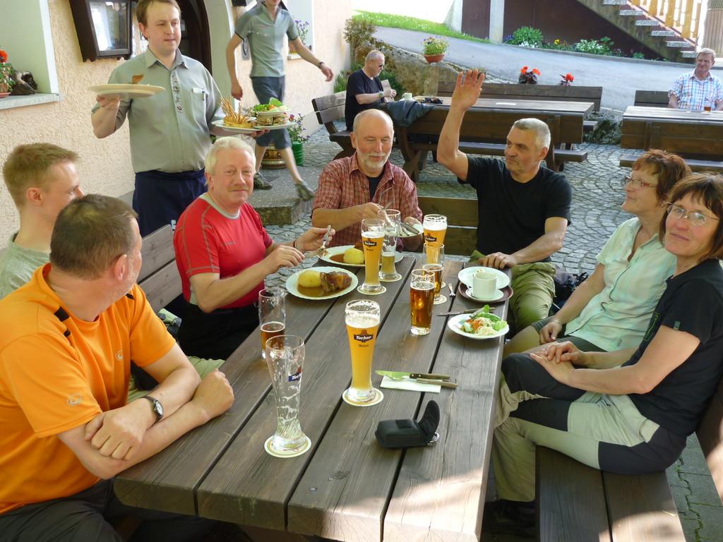 Abschluss des Klettersteigkurses Im Goldenen Hirsch (Hirschbach)