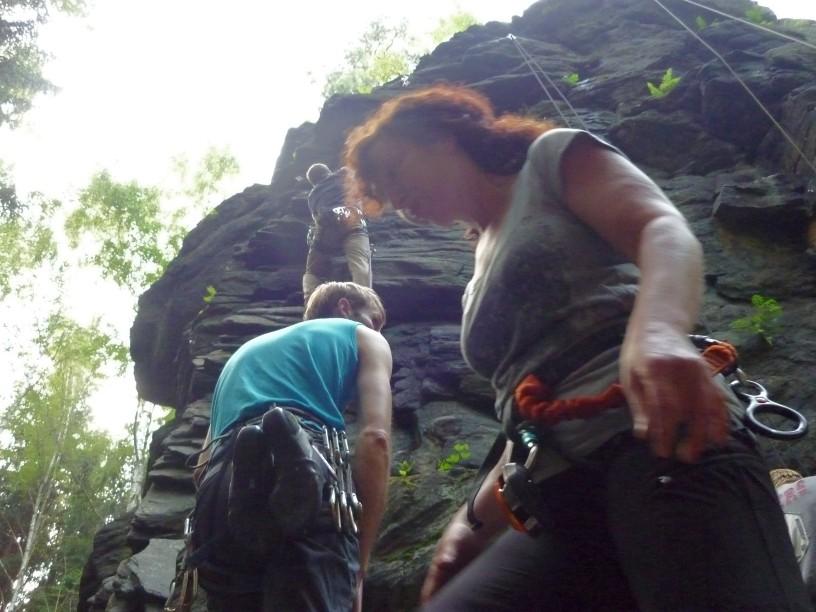Mittwochstraining am Poppenstein bei schönem Sommerwetter, 04.07.2012