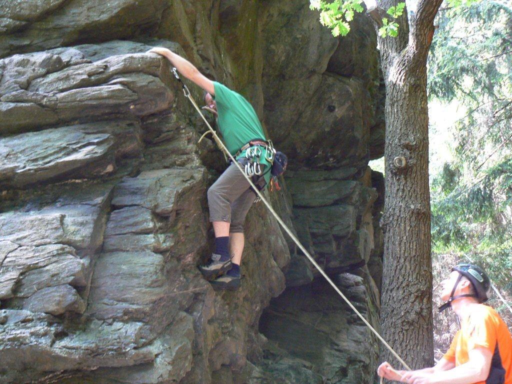 Klettern am Poppenstein / Geigenbachtal / Vogtland