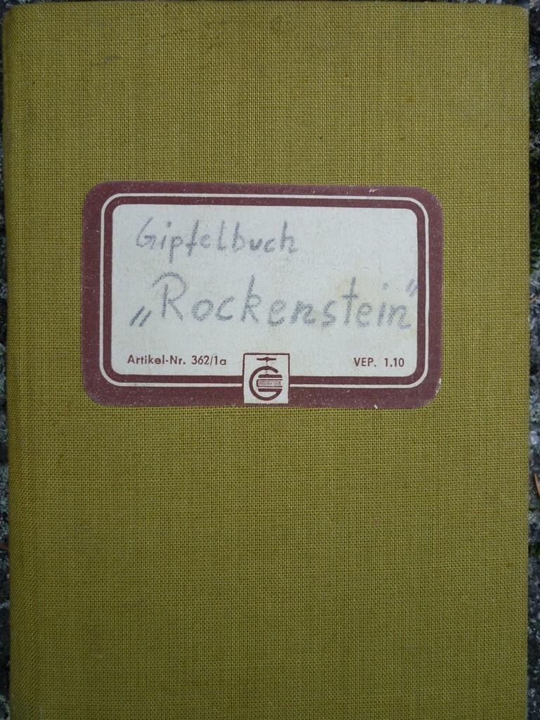 Gipfelbuch Rockenstein (Klettergebiet Auersberg/Oberes Muldetal)