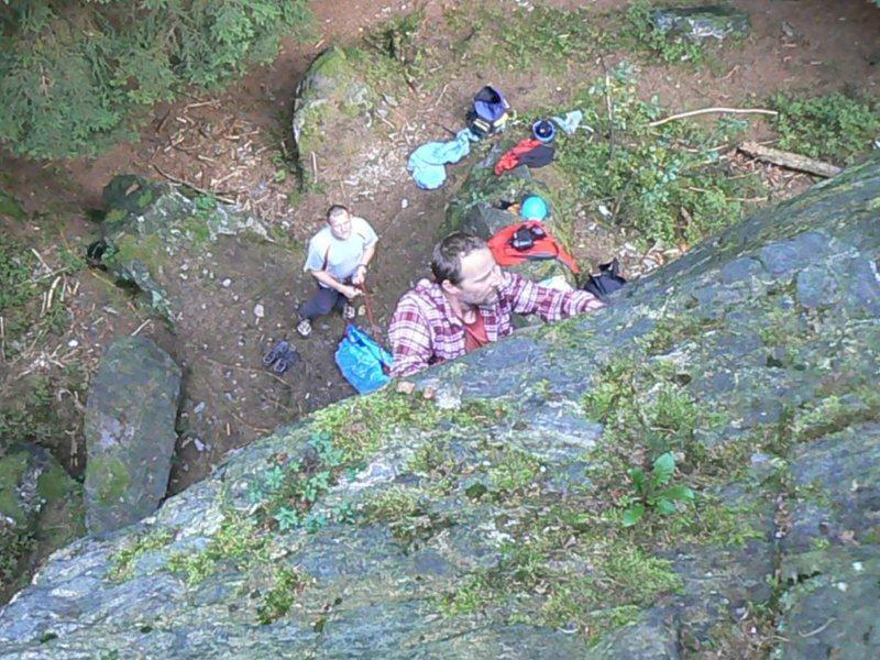 Klettern am Lohberg, Sachsen-Vogtland-oberes Göltzschtal-Mittwochstraining