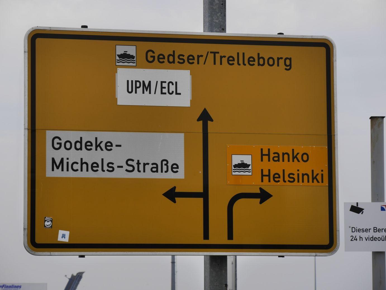 im Überseehafen von Rostock
