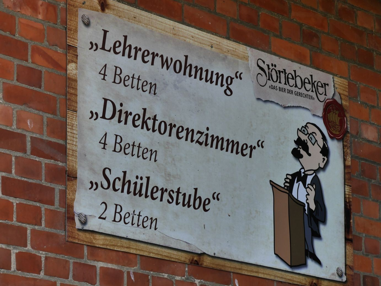 die alte Schule von Schaprode ist jetzt Feriendomizil