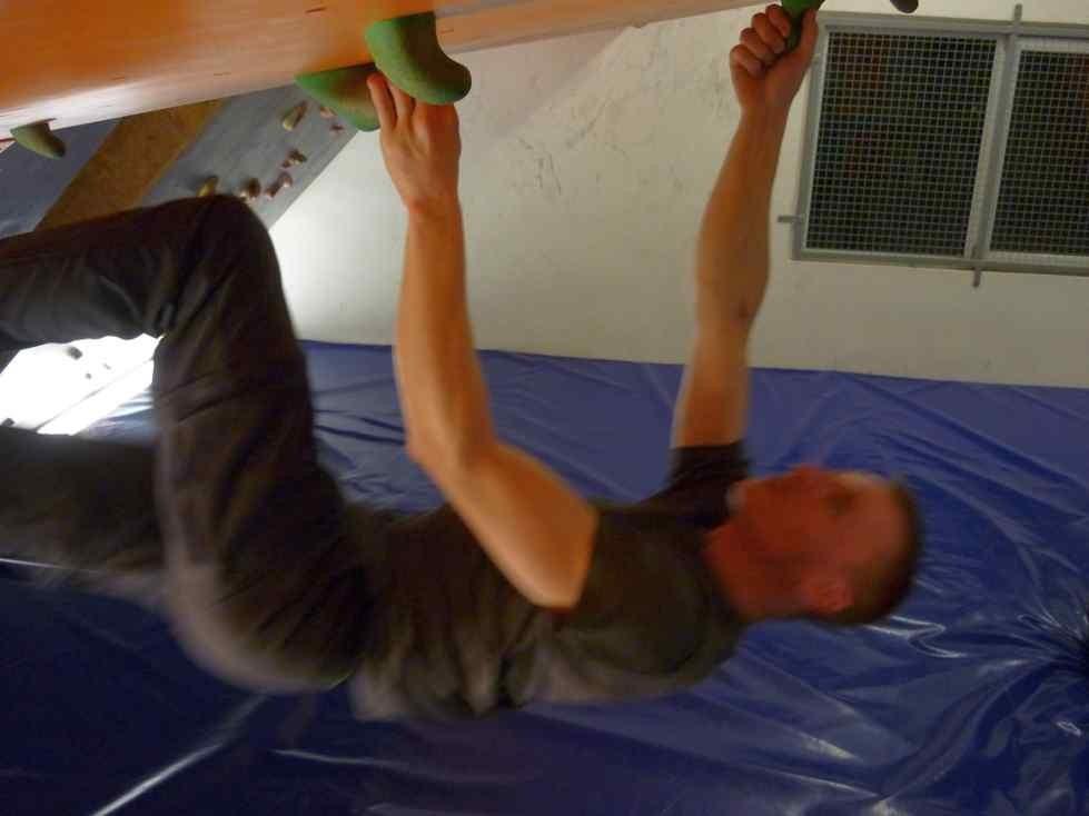 Mittwochstraining im Boulderboden Grünheide 08.12.2011
