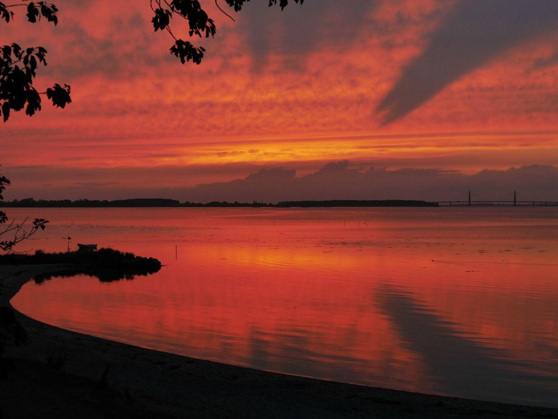 Sonnenuntergang vom Zelt