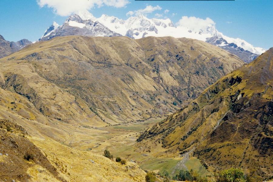 Blick auf Quisuar (Cordillera Blanca)