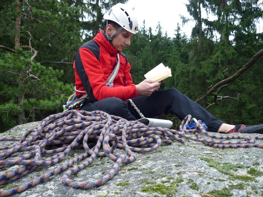 Auf dem Gipfel des Rockenstein (Klettergebiet Auersberg/Oberes Muldetal)