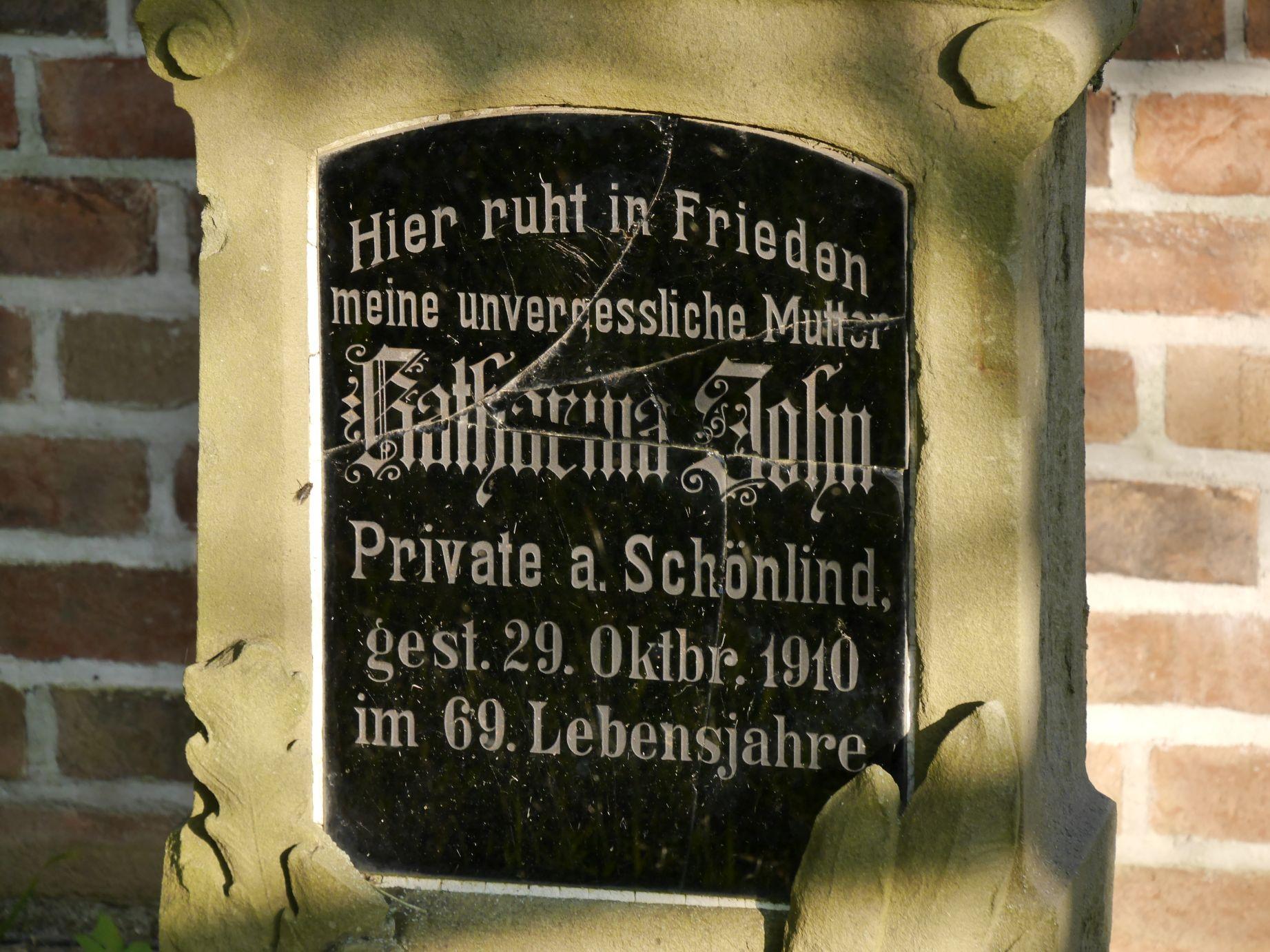 Friedhof von Schönlind.