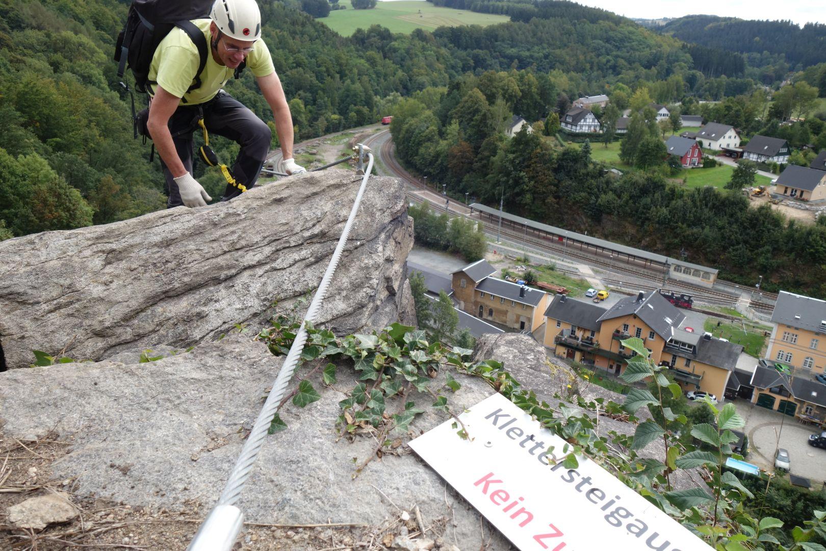 Ausstieg des Klettersteiges Wolkensteiner Hag