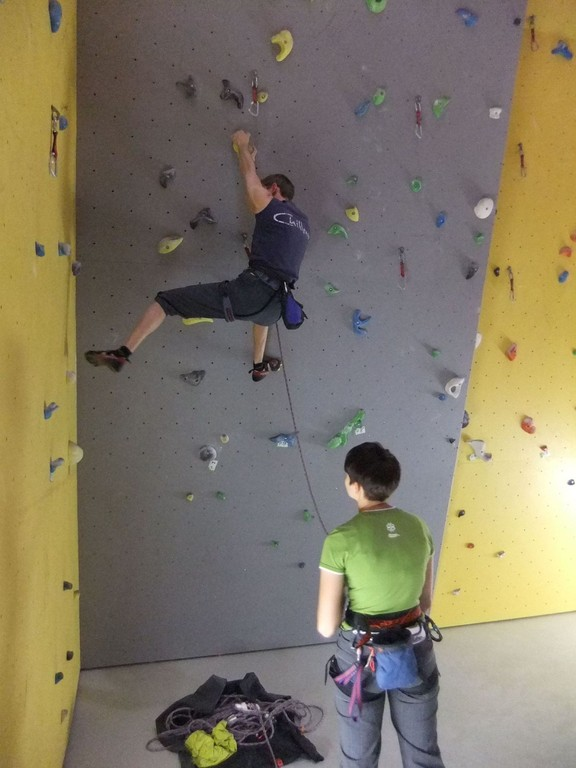 Klettersonntag in der Chemnitzer Kletterhalle 18.12.2011