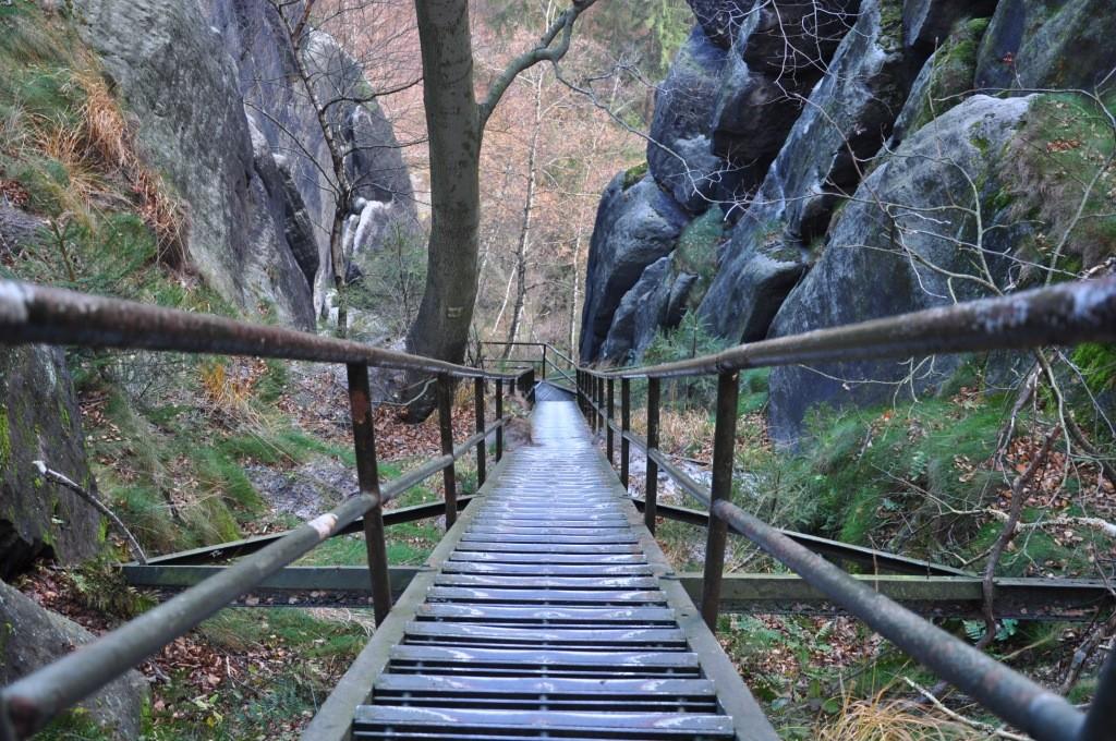 Häntschelstiege - Sächsische Schweiz