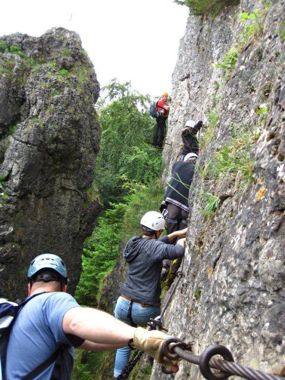auf dem Höhenglück Klettersteig / Hersbrucker Schweiz