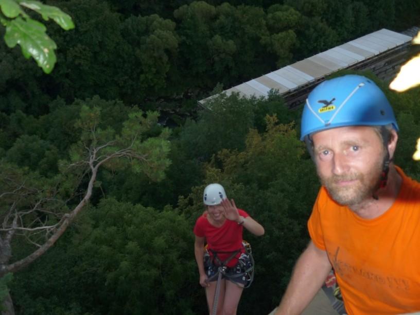 Sommer Spezial - Mittwochstraining im Klettergebiet Steinicht 01.08.2012