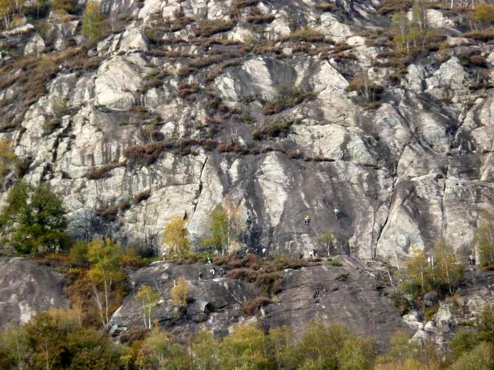 Klettern im Tessin - Ponte Brolla - Vallemaggia