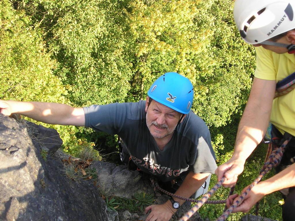 Sonntagsklettern im Steinicht am Uhustein, 25.09.2011
