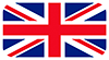 UK flag used to indicate the all communication can be done in English.