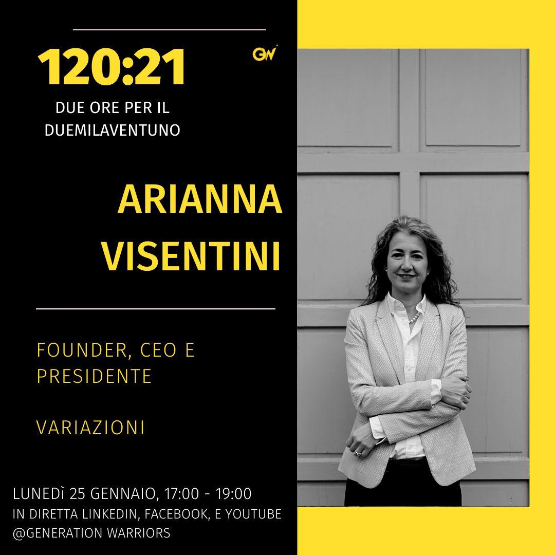Arianna Visentini ospite all'evento di Generation Warriors di Lunedì 25 Gennaio