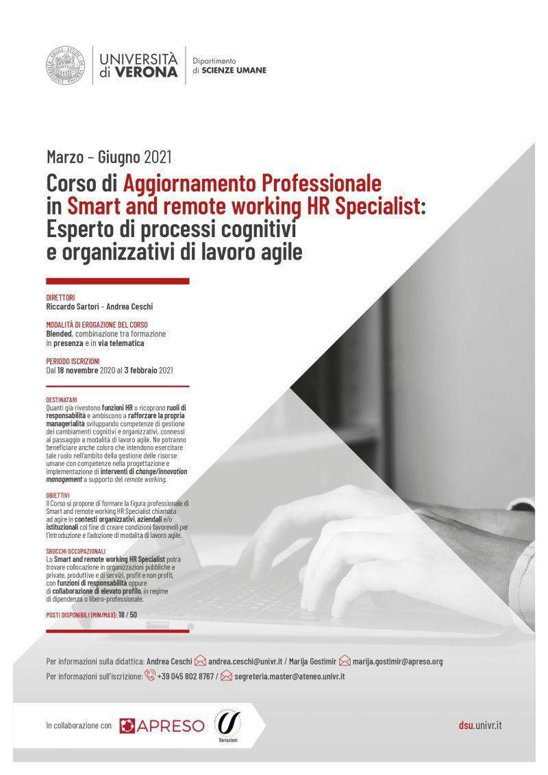 """Gli esperti di Variazioni fanno parte del corpo docenti del Corso """"Smart and Remote working HR Specialist"""""""