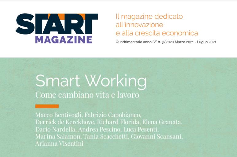 L'intervento della nostra CEO Arianna Visentini sul nuovo numero del quadrimestrale Start Magazine dedicato allo Smart Working