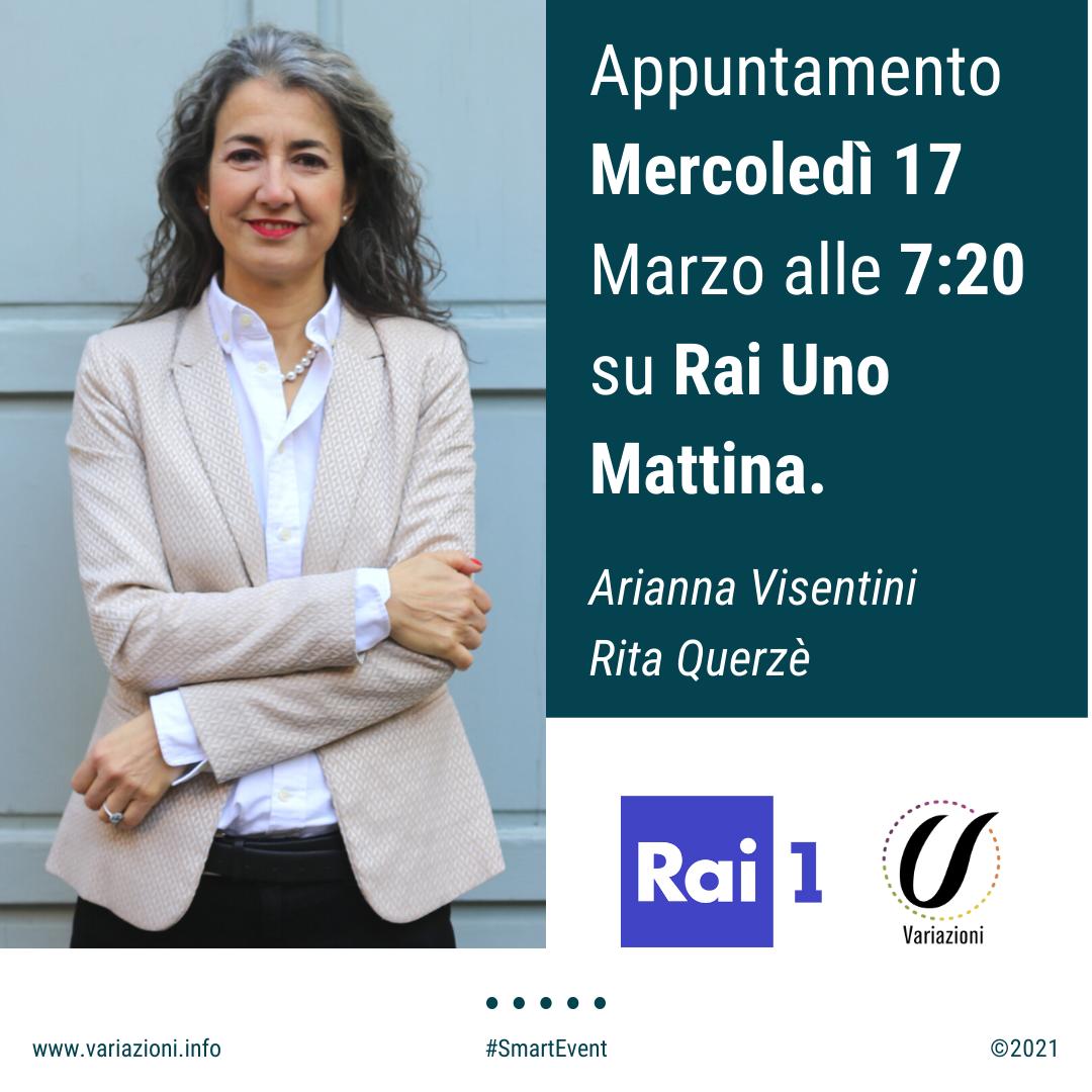 Arianna Visentini ospite al programma Uno Mattina su Rai 1