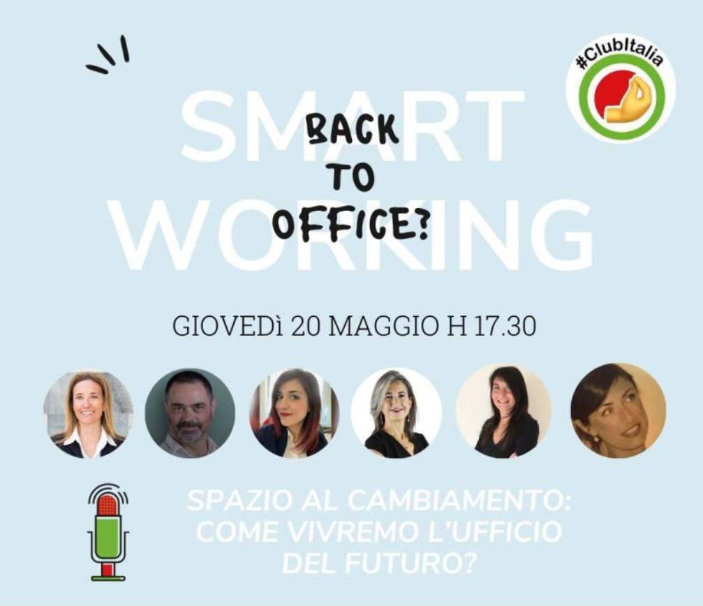 Gli spazi di lavoro che cambiano: intervento della nostra CEO Arianna Visentini nella Smart Room di Club Italia
