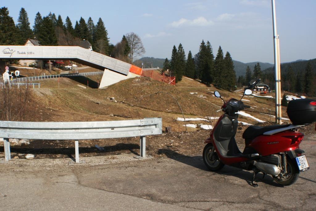 Reina am Feldberg-Pass auf 1.233 m.