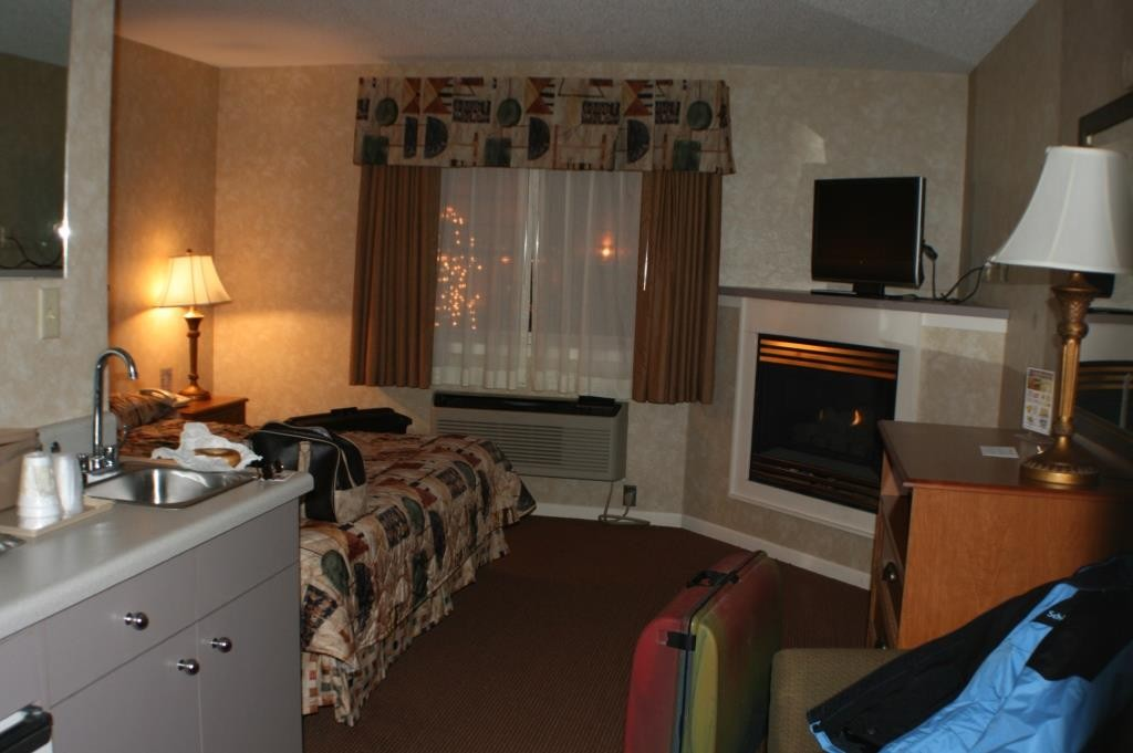 Upgrade auf ein Kaminzimmer in Pigeon Forge, USA.