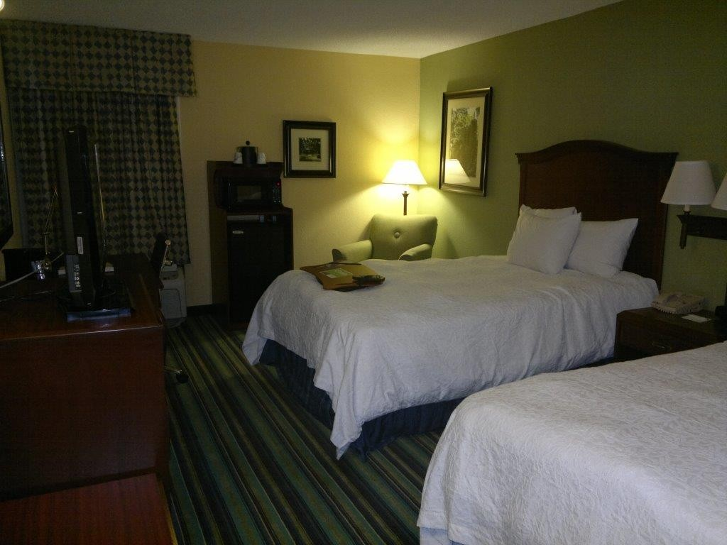 Hotelzimmer in Raleigh, USA.