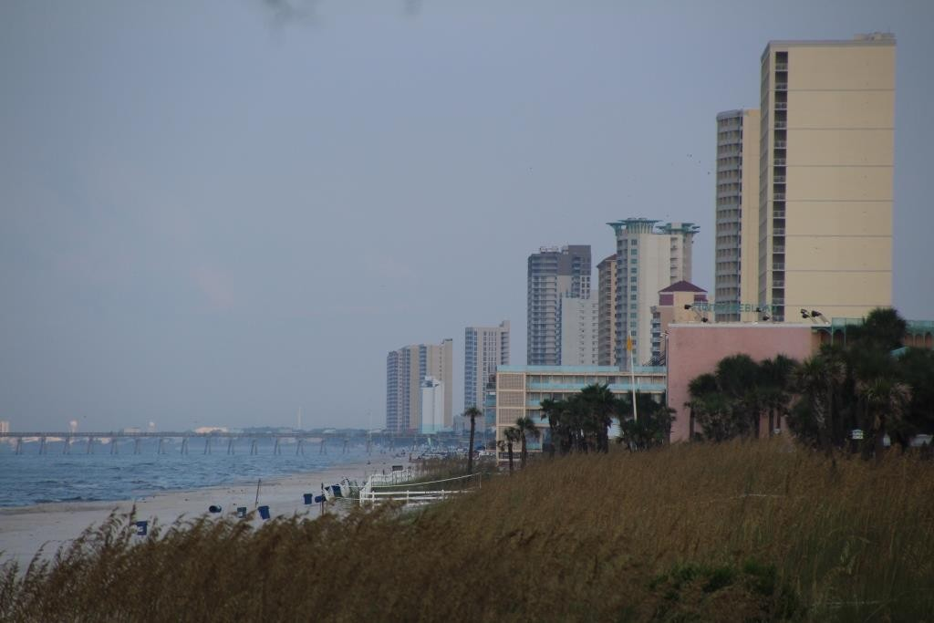 Aussicht vom Hotelzimmer in Panama City Beach, USA.