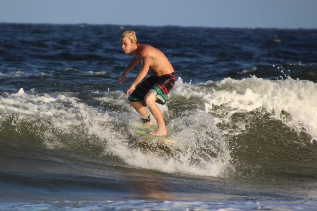 Surfer in Fernandina Beach
