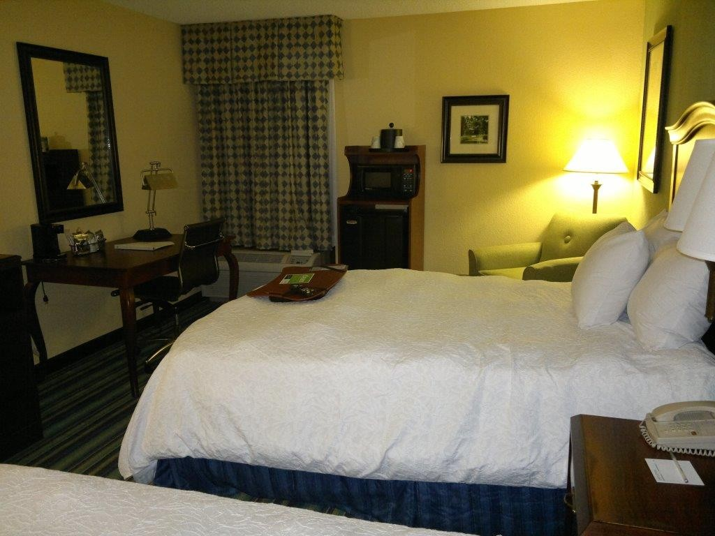 Das Hotelzimmer in Raleigh, USA.
