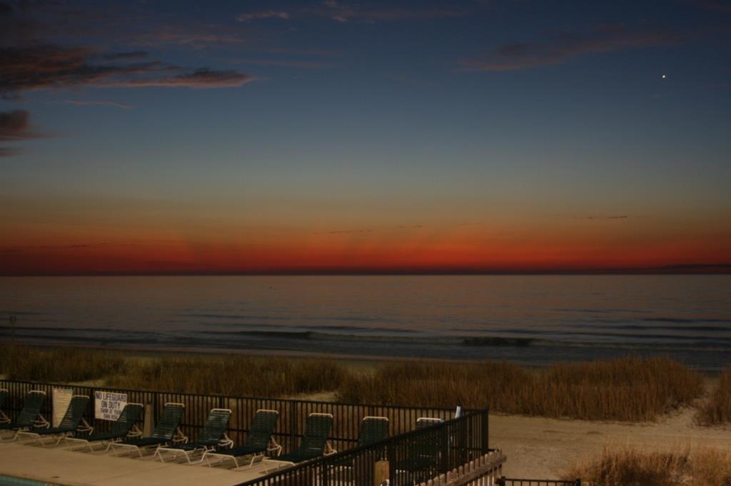 Aussicht vom Hotelzimmer in Myrtle Beach, USA.