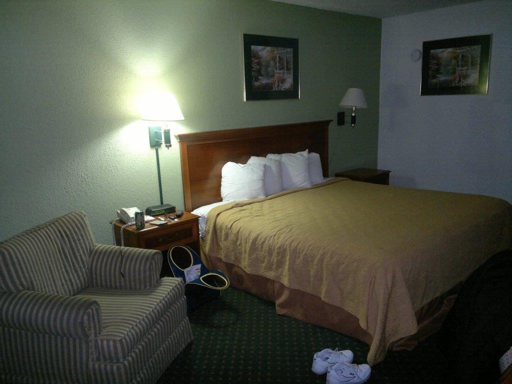 Motelzimmer bei Savannah, USA.