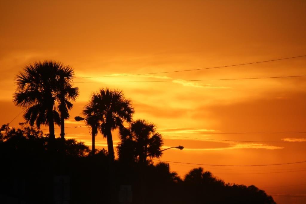 Sonnenuntergang in Fernandina Beach