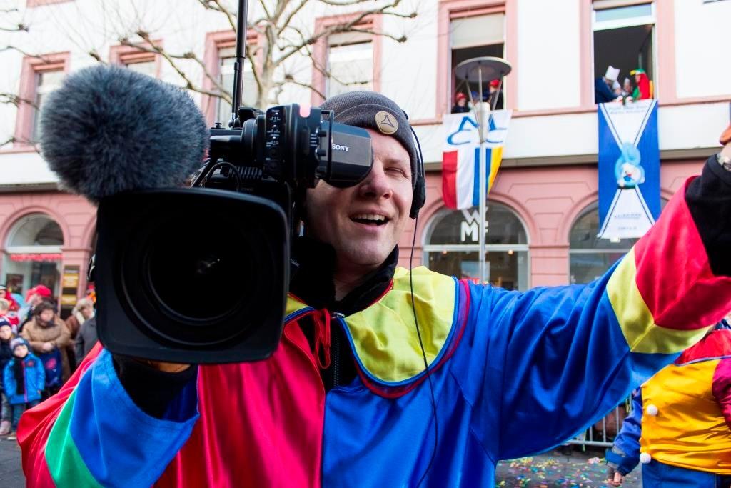 Motivationsübungen mit dem Kameramann.