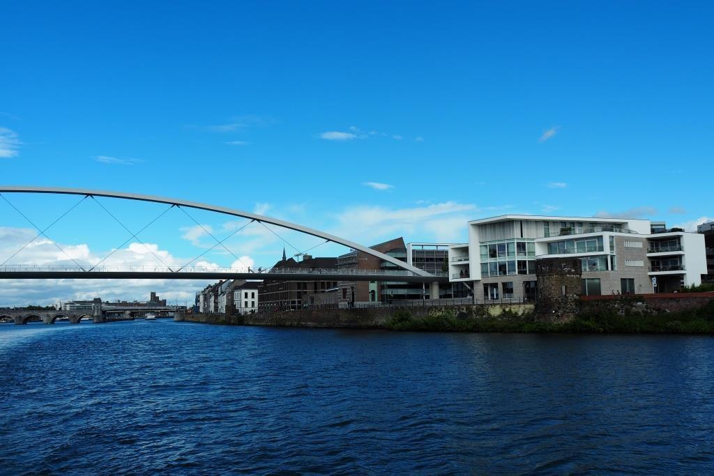 Blick zurück auf Maastricht.