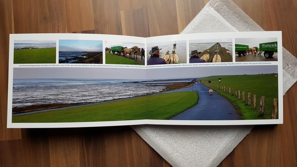 Fotos über zwei Seiten entfalten sich mit der Layflat-Bindung besonders beeindruckend.