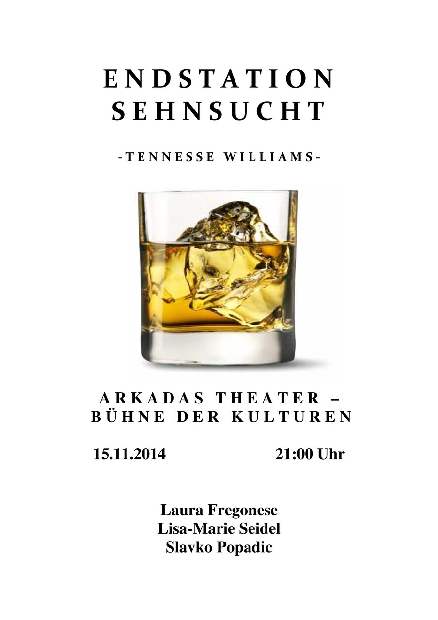"""Theaterstück """"Endstation Sehnsucht"""" Text: Tennessee Williams - Regie: Heike Beutel"""