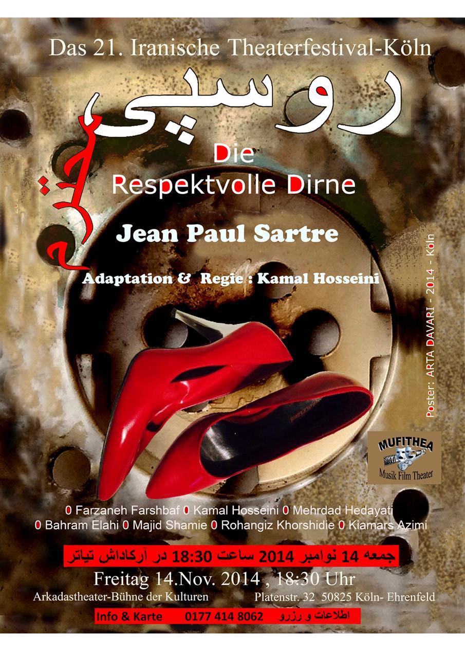 "Theaterstück ""Die respektvolle Dirne"" nach: Jean Paul Sartre - Regie: Kamal Hosseini"