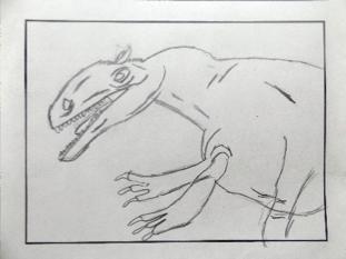 Allosaurus; gezeichnet von Tao