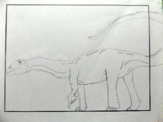 Diplodocus; gezeichnet von Jared
