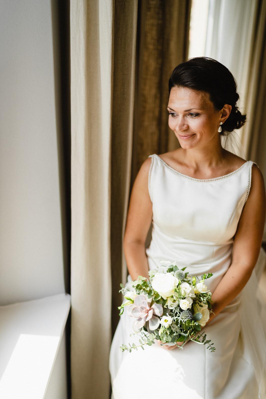 Braut Portraits Strauß hübsch