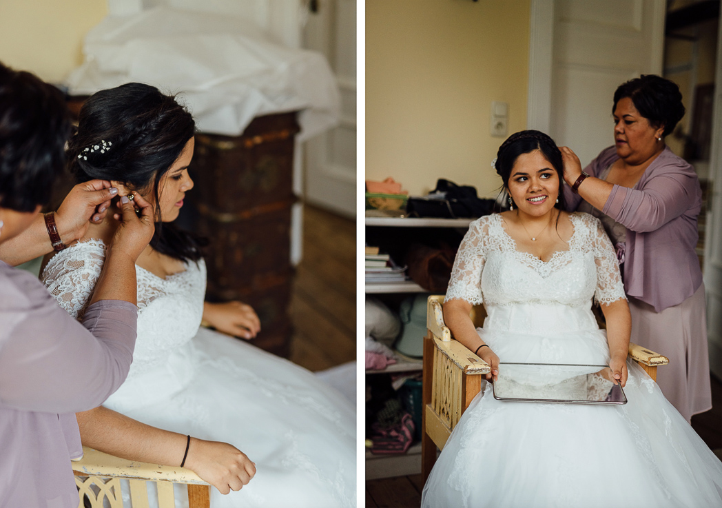 Braut Mutter Ohrring Spiegel