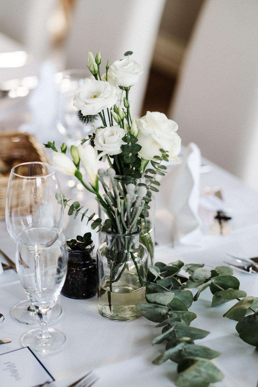 Blumen Gesteck Hochzeit