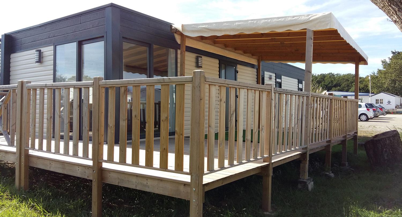 Conception et fabrication de terrasses semi-couvertes